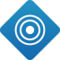 Bullseye icon with blue rings and a dot in the middle - Dynamic Campaign Pages