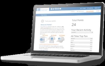 Screenshot of Volunteer Rewards and Recognition Leaderboard on VolunteerHub software on laptop