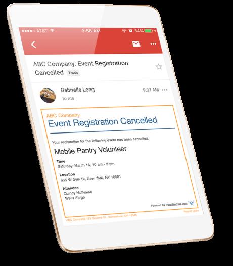 Screenshot of Multi-Event Editor from VolunteerHub on an iPad