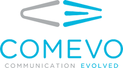 Comevo logo signifying their VolunteerHub partnership